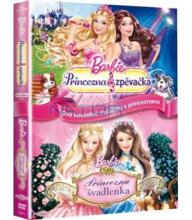 Kolekce: Barbie - Princezna zpěvačka + Barbie - Princezna a švadlenka 2 x DVD