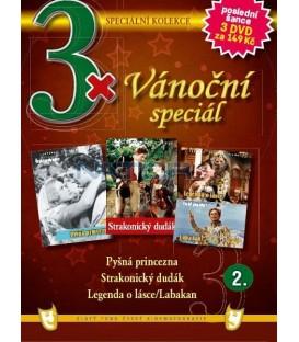 3x Vánoční speciál 2 - Pyšná princezna / Strakonický dudák / Legenda o lásce+ Labakan DVD