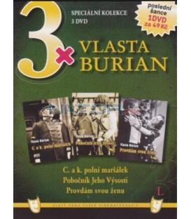 3x Vlasta Burian I: C. a k. polní maršálek / Pobočník jeho výsosti / Provdám svou ženu DVD