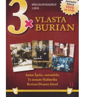 3x Vlasta Burian II: Anton Špelec, ostrostřelec / To neznáte Hadimršku / Revizor+Dvanáct křesel DVD