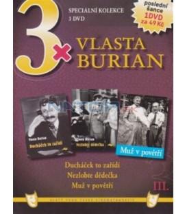 3x Vlasta Burian III: Ducháček to zařídí / Nezlobte dědečka / Muž v povětří DVD
