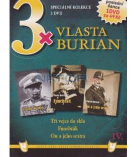 3x Vlasta Burian IV: Tři vejce do skla / Funebrák / On a jeho sestra DVD