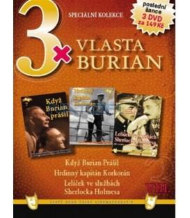 3x Vlasta Burian VIII:Když Burian prášil/Hrdinný kapitán Korkorán/Lelíček ve službách S. Holmesa DVD