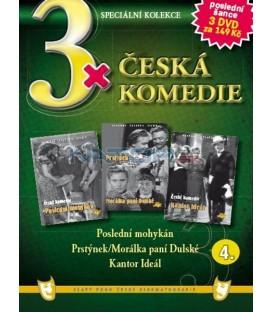3x Česká komedie IV - Poslední mohykán / Prstýnek + Morálka paní Dulské / Kantor Ideál DVD