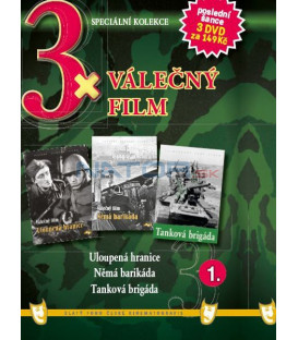 3x Válečný film I. - Uloupená hranice / Němá barikáda / Tanková brigáda DVD