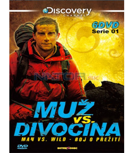Muž vs. divočina kolekce série (Man vs. Wild) 1 /6DVD/ plastbox