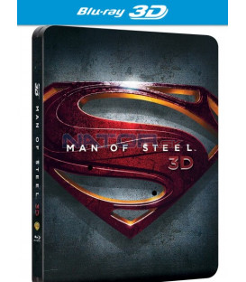 MUŽ Z OCELI (Man of Steel) - Blu-ray 3D + 2D Futurepak / Metalpak