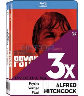 Alfred Hitchcock (Psycho, Vertigo, Ptáci), 3 x Blu-ray