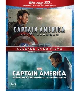 Captain America kolekce 1.-2. 4BD (3D+2D) (Captain America: The First Avenger + Captain America: The Winter Soldier) Blu-ray