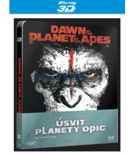 Úsvit planety opic (Dawn of the Planet of the Apes) - Blu-ray 3D + 2D STEELBOOK