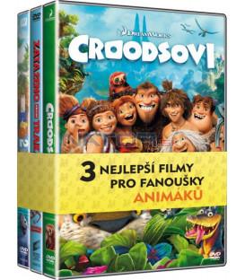 Kolekce Animované filmy (Croodsovi, Zataženo občas trakaře 2, Rio 2) DVD