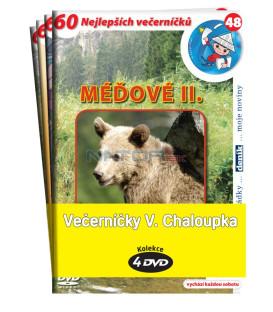 Večerníčky V. Chaloupka -kolekce 4DVD (Méďové 2, Pruhovaní kamarádi, Vydrýsek, Tuláček)