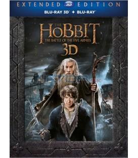 Hobit: Bitva pěti armád - prodloužená verze 5BD  (The Hobbit: The Battle of the Five Armies - Extended Edition) 3D+2D Blu-ray