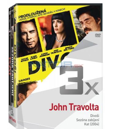 Kolekce:John Travolta (Divoši, Sezóna zabíjení, Kat) 3DVD