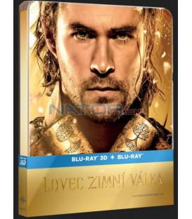 Lovec: Zimní válka (The Huntsman Winters War) 3D + 2D Prodloužená verze Blu-ray STEELBOOK