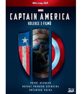 CAPTAIN AMERICA 1-3 KOLEKCE 6X Blu-ray 3D + 2D