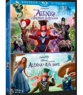 Alenka v říši divů kolekce 1.-2 (Alice in Wonderland + Alice Through the Looking Glass) 2xBlu-ray
