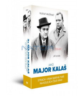 3x major Kalaš: Strach + Vrah skrývá tvář + Na kolejích čeká vrah 3DVD