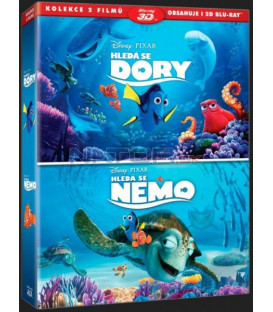 Hledá se Nemo + Hledá se Dory (Finding Dory + Finding Nemo) kolekce 4BD (3D+2D)
