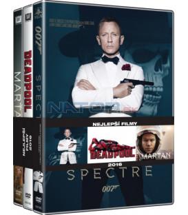 Nejlepší filmy muži (Spectre, Deapool, Marťan) 3DVD