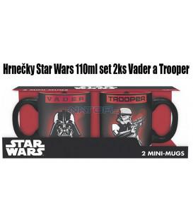Hrnečky Star Wars 110ml set 2ks Vader a Trooper