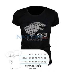 "Tričko Game of Thrones - ""Winter is coming"" dámské, černé XL (Tričko Game of Thrones - ""Winter is coming"")"