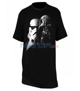 """Tričko Star Wars - """"Vader a Trooper"""" pánské, černé M"""