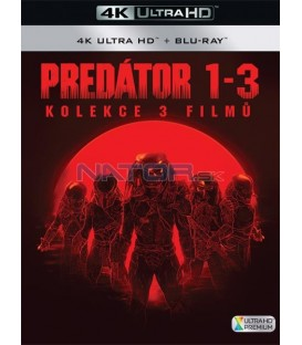 Predátor (Kolekce 1-3) (4K Ultra HD) - UHD Blu-ray + Blu-ray (SK OBAL)