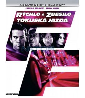 Rýchlo a zbesilo: Tokijská jazda 2006 (The Fast and the Furious: Tokyo Drift) 4K Ultra HD) - UHD Blu-ray + Blu-ray (SK OBAL)
