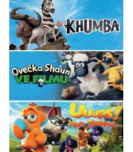 Animáky kolekce II. (Ovečka Shaun ve filmu, Khumba, Uuups! Noe zdrhnul...) 3DVD