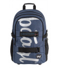 BAAGL Školský batoh skate Blue