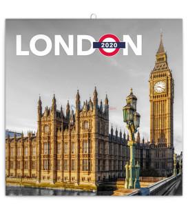 Poznámkový kalendár Londýn 2020, 30 x 30 cm