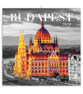 Poznámkový kalendár Budapešť 2020, 30 x 30 cm
