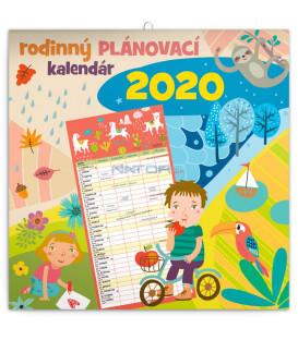 Rodinný plánovací kalendár SK 2020, 30 x 30 cm