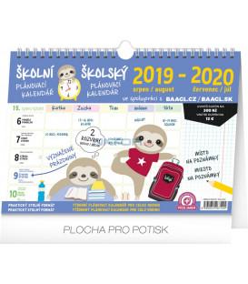 Školský plánovací kalendár s háčikom CZ/SK 2020, 30 x 21 cm