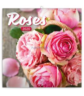 Poznámkový kalendár Ruže 2020, voňavý, 30 x 30 cm
