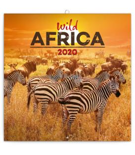 Poznámkový kalendár Divoká Afrika 2020, 30 x 30 cm