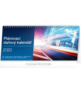 Stolní kalendář Plánovací daňový CZ 2020, 33 x 14,5 cm