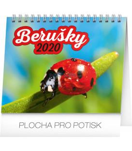 Stolní kalendář Berušky CZ 2020, 16,5 x 13 cm