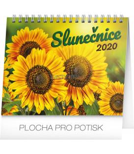 Stolní kalendář Slunečnice s citáty CZ 2020, 16,5 x 13 cm
