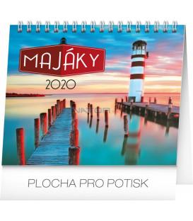 Stolní kalendář Majáky CZ 2020, 16,5 x 13 cm