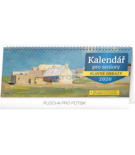 Stolní kalendář kalendář pro seniory CZ 2020, 33 x 12,5 cm