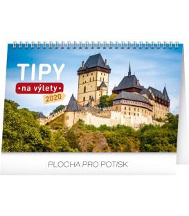 Stolní kalendář Tipy na výlety CZ 2020, 23,1 x 14,5 cm