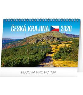 Stolní kalendář Česká krajina CZ 2020, 23,1 x 14,5 cm