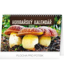 Stolní Houbařský kalendář CZ 2020, 23,1 x 14,5 cm