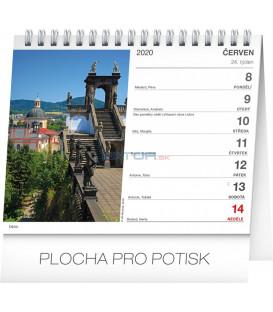 Stolní kalendář Nejkrásnější místa Čech a Moravy CZ 2020, 16,5 x 13 cm