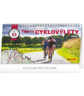 Stolní kalendář Tipy na cyklovýlety CZ 2020, 30 x 16 cm