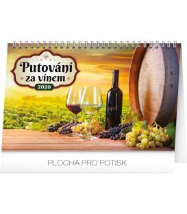 Stolní kalendář Putování za vínem CZ 2020, 23,1 x 14,5 cm