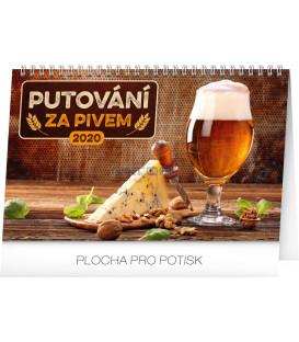 Stolní kalendář Putování za pivem CZ 2020, 23,1 x 14,5 cm