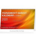 Stolový kalendár Poznámkový daňový s citátmi SK 2020, 25 × 14,5 cm